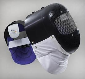 maschera plastica nero/bianco