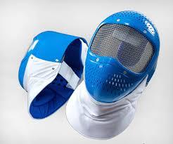 maschera plastica blu