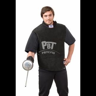 giubbotto-in-pelle-PBT-con-mezze-maniche-in-tessuto