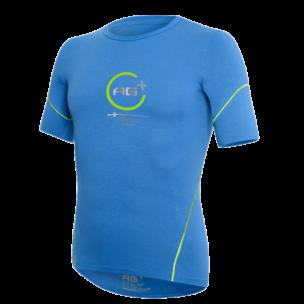 t-shirt ag+ uomo blu fronte