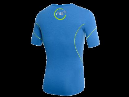 t-shirt ag+ uomo blu retro