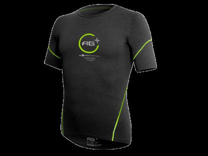 t-shirt ag+ uomo nero fronte
