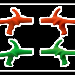 Impugnatura fioretto PBT con rivestimento speciale in gomma antiscivolo