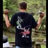 T-shirt fencer yell retro uomo