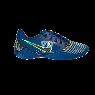 scarpe da scherma nike ballestra 2 blue green lato