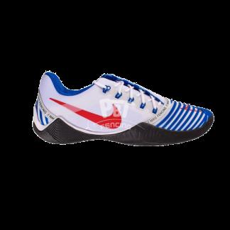 scarpe scherma nike ballestra 2 white navy red lato
