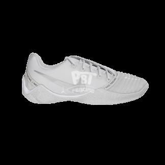 scarpe per scherma nike ballestra 2 white silver lato